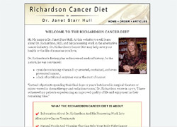 The Richardson Cancer Diet