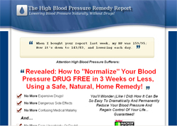The High Blood Pressure Remedy Report: How To Cure Your High Blood Pressure Naturally Without Drugs