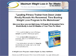 Maximum Weight Loss in Ten Weeks