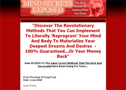 Mind Secrets Exposed: The Art & Science Of Getting What You Want