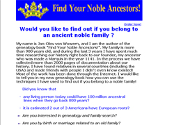 Find Your Noble Ancestors
