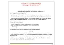 The Secret Behind The Sercet