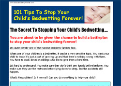 101 Tips to Stop Your Child's Bedwetting Forever