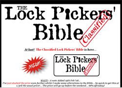 The Classified Lock Pickers' Bible
