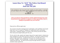 Ace Your Police Oral Board Interview!