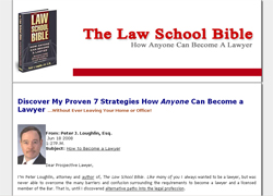 Law School Bible: How Anyone Can Become A Lawyer
