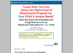 The Montessori Parents Guide