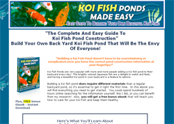 Koi Fish Ponds Made Easy