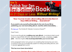 How To Publish Your Own Best-Selling eBook in 21 Days or Less Without Writing!