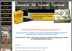 Average Joe Income Package