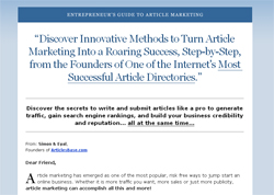 Entrepreneur's Guide to Article Marketing