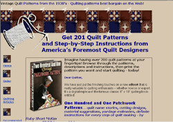 Two Hundred and One Vintage Patchwork Patterns