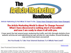 The Article Marketing Handbook