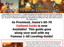 Joanas 1-70 Horde Power Leveling Guide For World Of Warcraft