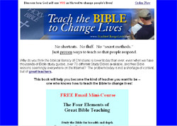 Teach the Bible To Change Lives