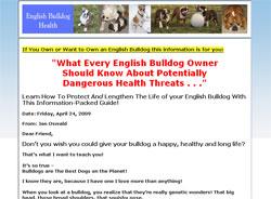 English Bulldog Health