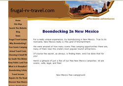 RV Boondocking In New Mexico: A Frugal Shunpiker's Guide