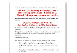 Advanced Guide to Base Cycling Training