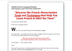 Learn French Words With Ease: Using Cutting Edge Memory Techniques