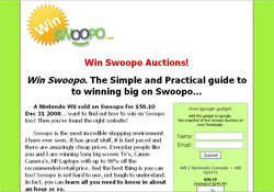 Win Swoopo: The Definitive Guide To Swoopo Auctions