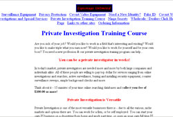 Private Investigation Training Program