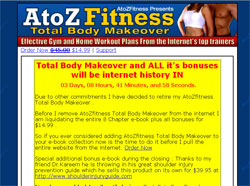 AtoZ Fitness Total Body Makeover: Effective Gym and Home Workout Plans From the Internet�s top train