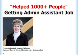 How To Get An Admin Assistant Job