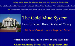 The Gold Mine System: Legally Secure Huge Blocks of Money In Your Name In 30 Days or Less!