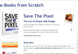 Save The Pixel: The Art of Simple Web Design