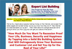 Expert List Building Home Study Course
