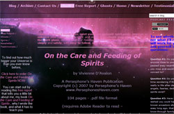 On The Care And Feeding Of Spirits