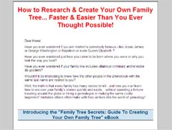 Family Tree Secrets: Guide To Creating Your Own Family Tree