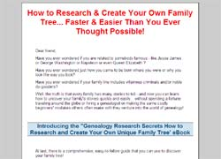 Genealogy Research Secrets: How to Research and Create Your Own Unique Family Tree