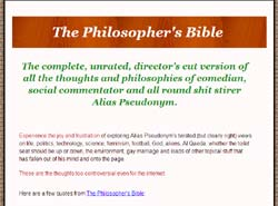 The Philosopher's Bible: The Half-Wit and Wisdom of Alias Pseudonym