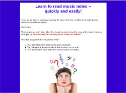 Reading Music Notes With Ease for the Adult Beginner