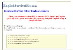 Everyday Survival Kit for English Learners