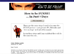 How to be FUNNY!