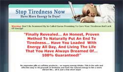 Stop Tiredness Now!