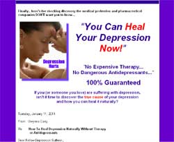 You Can Heal Your Depression Now!: No Expensive Therapy, No Dangerous Antidepressants