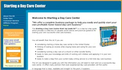Starting a Day Care Center Start-Up Guide Kit