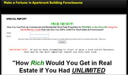 Apartment Building Foreclosure Cash Flow System
