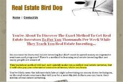 Real Estate Investor Birddog