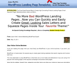 WordPress Landing Page Template Collection