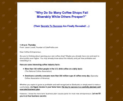 Coffee Shop Business Plan 2011