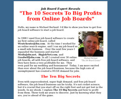 The 10 Secrets to Big Profits From Online Job Boards