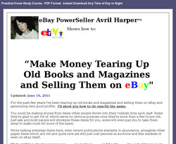 Make Money Tearing Up Old Books and Magazines and Selling Them on eBay