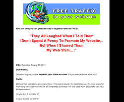 Free Traffic To Your Web Site