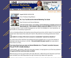 Internet Marketing Tax Guide