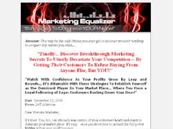 Marketing Equalizer