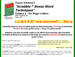 Scrabble ? Bonus Word Techniques Volume 1 - Six Magic Letters